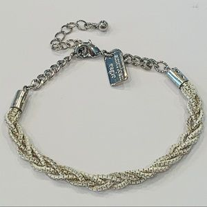American Eagle white braided box chain anklet
